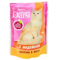 """Консервы """"Darsi"""", для кошек, с индейкой в желе"""