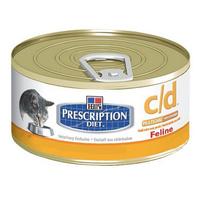"""Консервы """"Feline c/d"""" для кошек, для профилактики рецедивов мочекаменной болезни струивитного типа, куриный фарш"""