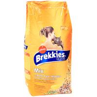 """Корм сухой Brekkies Excel """"Mix"""", для взрослых кошек, с курицей, уткой и овощами"""