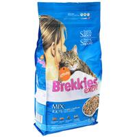 """Корм сухой Brekkies Excel """"Mix Fish"""" для взрослых кошек, с рыбой"""