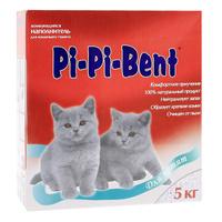 """Наполнитель Pi-Pi-Bent """"Для котят"""", для кошачьего туалета, комкующийся"""