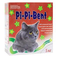 """Наполнитель Pi-Pi-Bent """"Сенсация свежести"""" для кошачьего туалета, комкующийся, с ароматом трав и цветов"""