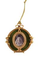 фоторамка-медальон. металл, эмаль, золочение, австрийские кристаллы. западная европа, 1990-е гг