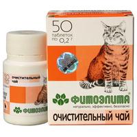 """Функциональный корм Фитоэлита """"Очистительный чай"""", для кошек"""