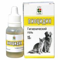 """Гигиенический гель """"Пиоцидин"""", для кошек и собак"""