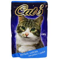 """Консервы """"Cat's"""",с рыбой, для взрослых кошек"""