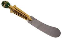 нож для масла. металл, эмаль, австрийский кристалл. западная европа, фаберже, конец хх века