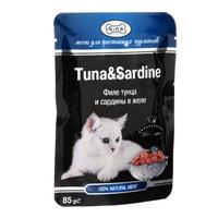 """Консервы для кошек Gina """"Tuna & Sardine"""""""