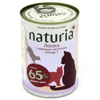 """Консервы для кошек """"Naturia"""", с лососем и жирными кислотами Omega 3"""