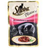 """Консервы для кошек """"Sheba Pleasure"""", с говядиной и кроликом"""