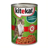 """Консервы для кошек """"Kitekat"""", с кроликом"""