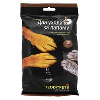 """Влажные салфетки """"Teddy Pets"""" для ухода за лапами домашних животных, с экстрактом масла Ши и витамином Е"""