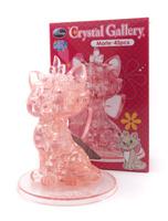 Кошка Мари. Объемный 3D-пазл, 45 элементов, цвет: розовый