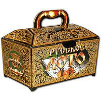 Настольная игра Русское лото в ларце. Подарочное оформление