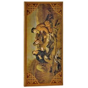 Настольная игра Охотники на привале: нарды, шашки. Игровой набор 2 в 1
