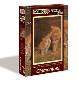 Настольная игра Рыжие котята. Пазл с пробковым покрытием, 500 элементов