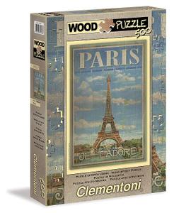 Настольная игра Париж. Пазл с деревянным покрытием, 500 элементов