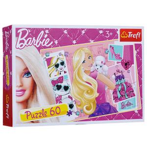 Настольная игра Барби с щенком. Пазл, 60 элементов