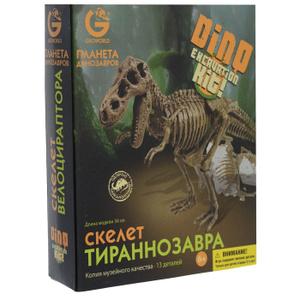 Настольная игра Планета динозавров. Скелет Тираннозавра, 16 элементов. Игровой набор для раскопок