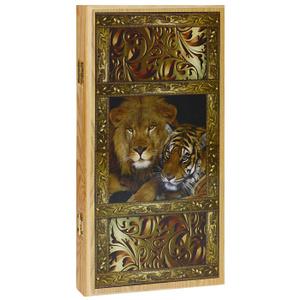 Настольная игра Походные. Лев и тигр. Нарды разных размеров