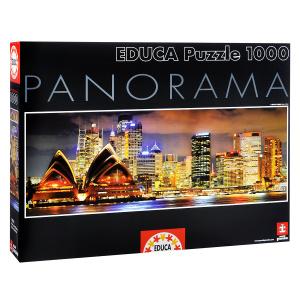 Настольная игра Сидней ночью. Пазл-панорама, 1000 элементов