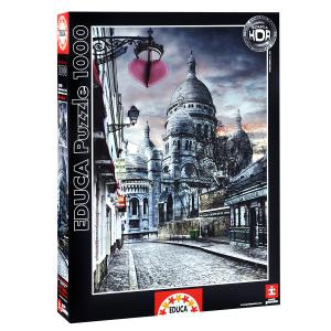 Настольная игра Монмартр, Париж. Пазл, 1000 элементов