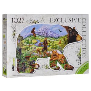 Настольная игра Медведь. Фигурный пазл, 1027 элементов