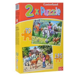 Настольная игра Верховая езда. Пазл 2 в 1, 205 элементов