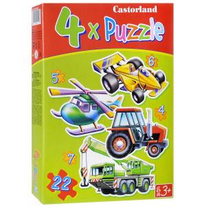 Настольная игра Транспорт. Пазл 4 в 1, 22 элемента