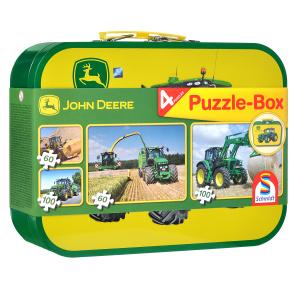 Настольная игра Тракторы Johh Deere. Пазл 4 в 1, 320 элементов