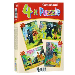 Настольная игра Маугли. Пазл. Пазл 4 в 1, 55 элементов