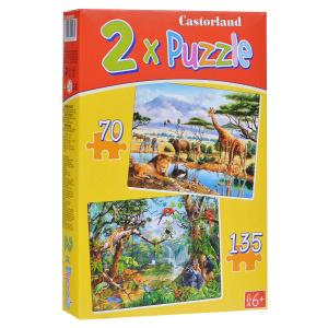 Настольная игра Саванна и джунгли, Набор пазлов 205 элементов