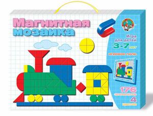 Настольная игра Паровозик. Магнитная мозаика, 177 элементов