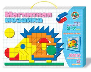 Настольная игра Ежик, 221 элемент. Магнитная мозаика