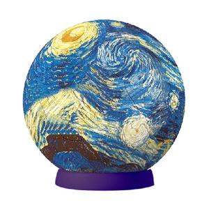 Настольная игра Ван Гог, Звездая ночь. Шаровый пазл, 60 элементов