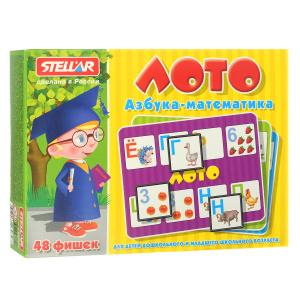 Настольная игра Азбука-математика. Лото