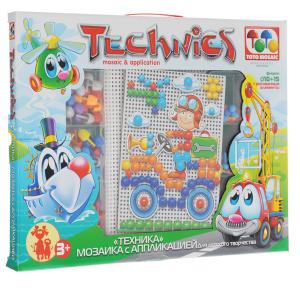 Настольная игра Техника, Мозаика с аппликацией, 100 элементов