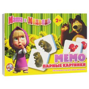 Настольная игра Маша и Медведь. Мемо, парные картинки