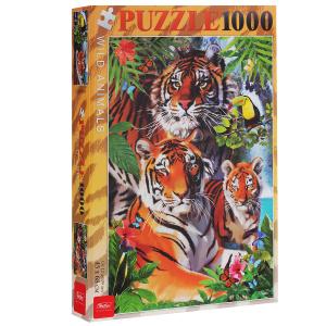 Настольная игра Тигриная семья. Пазл, 1000 элементов