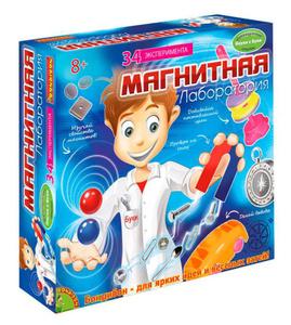 Настольная игра Магнитная лаборатория - Французские научно-познавательные опыты Науки с Буки