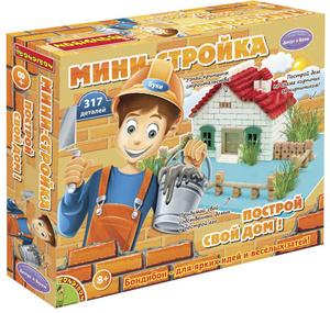 Настольная игра Мини-стройка - 3D-пазл набор для творчества 317 деталей Досуг с Буки