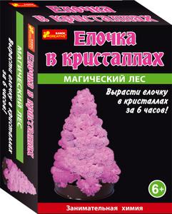 Настольная игра Елочка в кристаллах (розовая) - Сад пушистых кристаллов