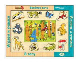 Настольная игра Весёлое лото. В лесу (игра из дерева)