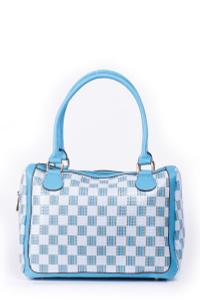Удобная женская сумочка, голубой цвет, молния
