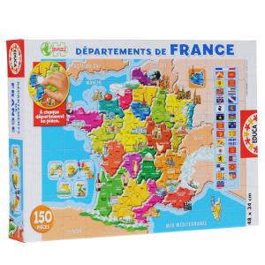 Настольная игра Департаменты Франции. Пазл, 150 элементов
