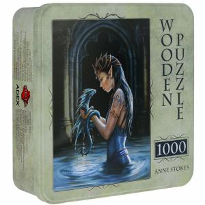 Настольная игра Водный дракон, Anne Stokes. Деревянный пазл, 1000 элементов