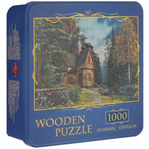 Настольная игра Дом в лесу (Dominic Davison). Деревянный пазл, 1000 элементов