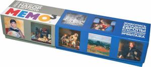 Настольная игра Мемо в кубе. Подарочный набор 5 игр-лото живопись западной Европы из коллекции Эрмитажа