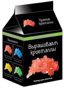 Настольная игра Выращиваем кристаллы, цвет: красный. Набор для исследований