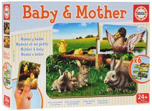 Настольная игра Мамы и дети, Игра-пазл 12 элементов
